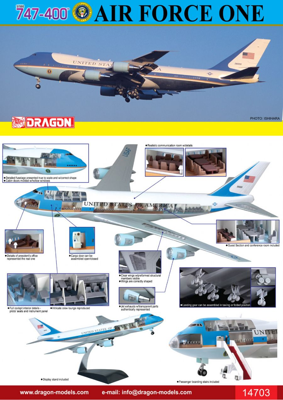 dragon 747-400 air force one