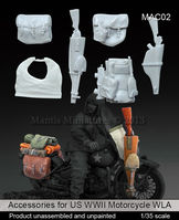 Accessories for US WW2 Motorcycle WLA - Image 1