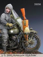 US WW2 Motorcycle WLA Rider - Image 1