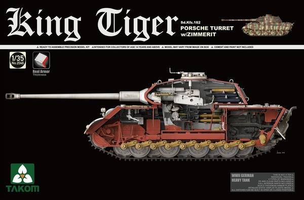 King Tiger Sd.Kfz.182 PORSCHE TURRET w/ZIMMERIT - Image 1