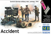 Accident. Soviet & German military men, summer 1941 - Image 1
