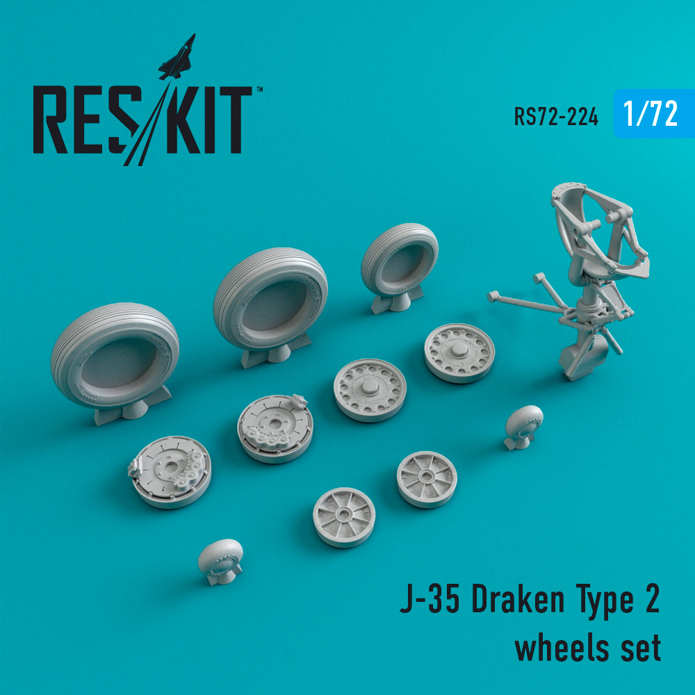 J-35 Draken Type 2 wheels set - Image 1