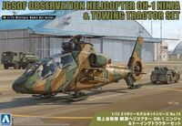 JGSDF OBSERVATION HELICOPTER OH-1 NINJA & Towing Tractor Set