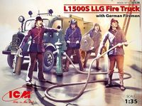 L1500S LLG Fire Truck with German Firemen - Image 1