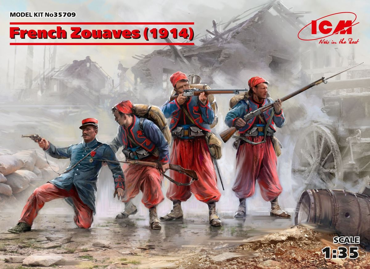 French Zouaves (1914) (4 figures) - Image 1