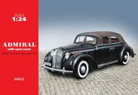 Admiral Cabriolet with open cover, WWII German Passenger Car