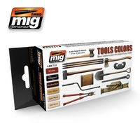 A.MIG 7112 Tools Colors - Basic colors to point the tools of your tanks Set