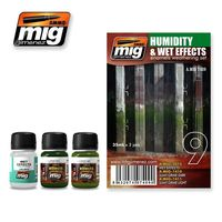 A.MIG 7409 Humidity & Wet Effects - Enamels Weathering Set