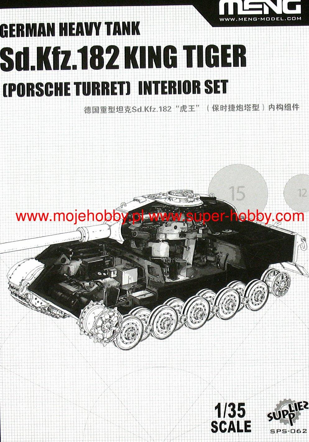 Model Kits Porsche Turret Meng 1 35 Sd Kfz 182 King Tiger German Heavy Tank Interior Set Com