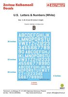 U.S. Letters & Numbers white - Image 1
