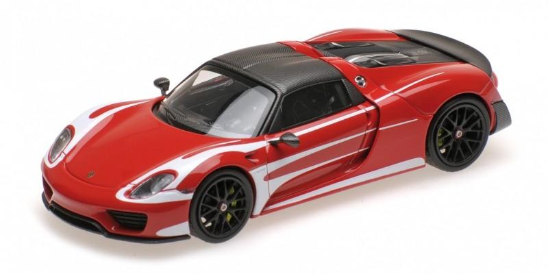 Porsche 918 Spyder Weissach-Package Le Mans Racing Design 1:43 Minichamps