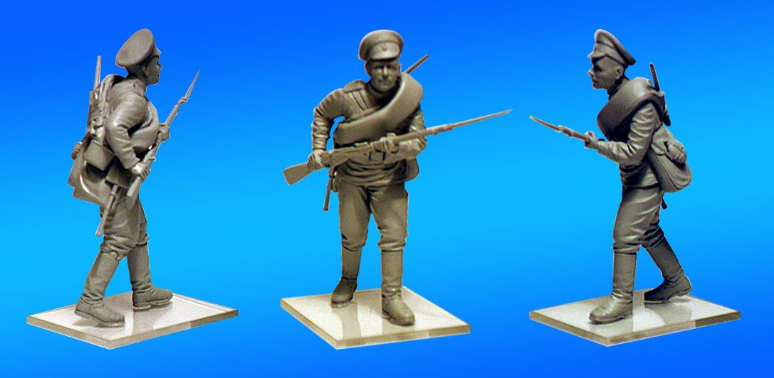 in 1:35 ICM 35690 WWI Ostfront Ausrro-Hungarian, German, Russian Infantry