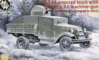 Soviet truck GAZ AA with Maxim Anti-aircraft machine-gun - Image 1