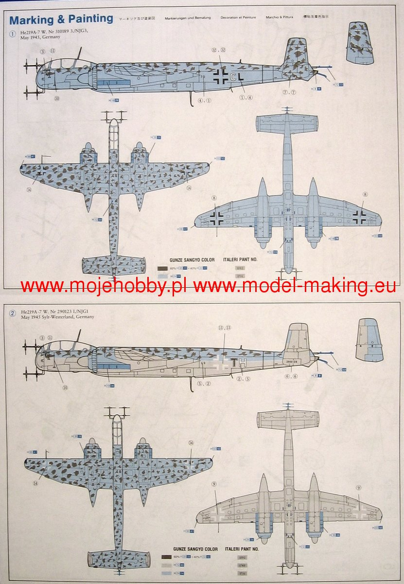 Dragon Models 5005 Heinkel He219a-0 Uhu German Plane Golden Wings Series 1 72 for sale online