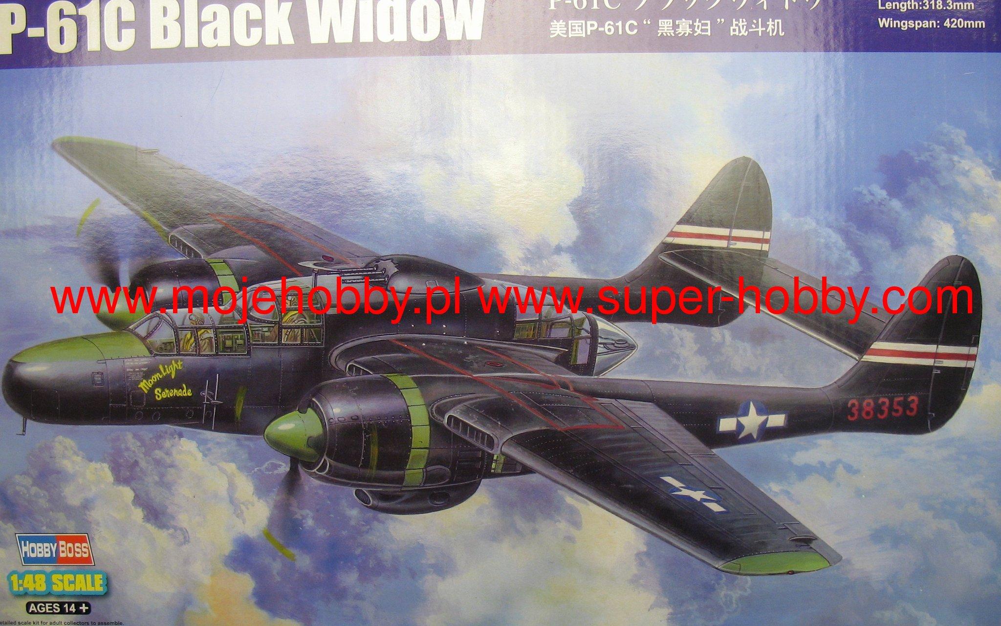 Hobbyboss 1//48 81732 P-61C Black Widow