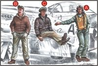 US Army Pilots+Mechanic WW II - Image 1