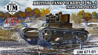 British tank Vickers E Mk. A (made for Poland)