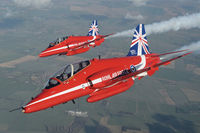 Hawk T1A Red  Arrows 50 display seasons
