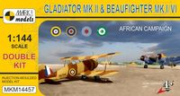 Gloster Gladiator Mk.II & Bristol Beaufighter North Africa (double kit)