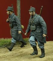 WWI Belgian Infantry walking, 1914-1915