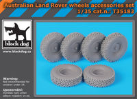 Australian Land Rover wheels accessories set