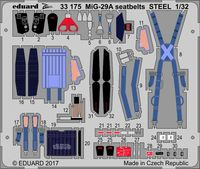 MiG-29A seatbelts STEEL   TRUMPETER - Image 1