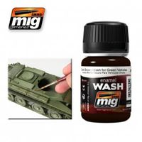 A.MIG 1005 DARK BROWN WASH FOR GREEN VEHICLES