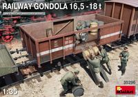 Railway Gondola 16,5-18t with Figures & Barrels - Image 1