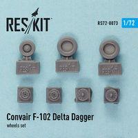 Convair F-102 Delta Dagger wheels set - Image 1
